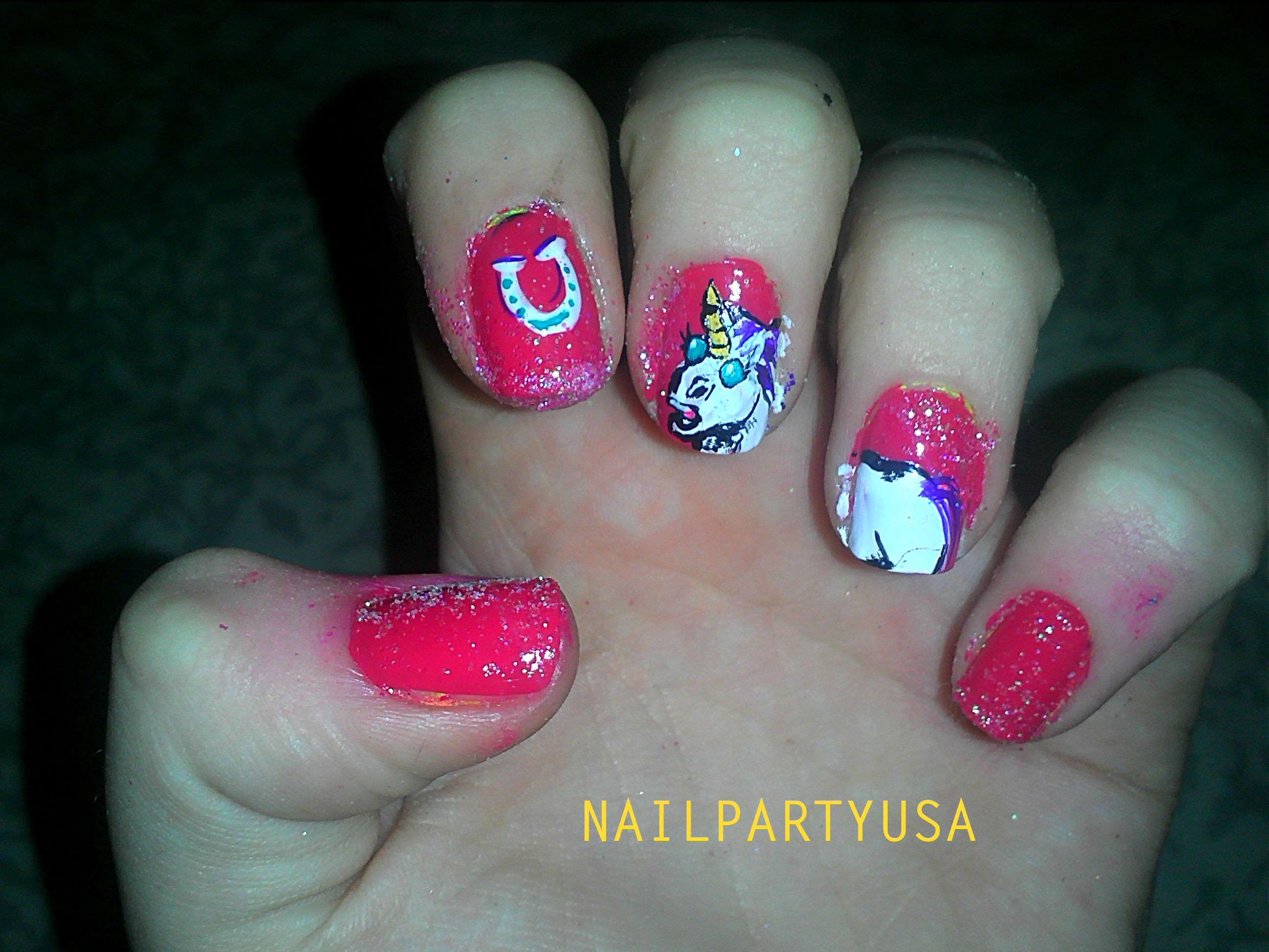 Unicorn Nails Nail Party Usa